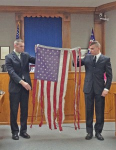 flag etiquette program torn American flag