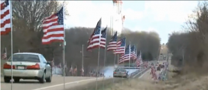 Flags for Fallen Marine