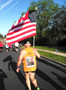 Disney Marathon Runner with American Flag | CG Flags