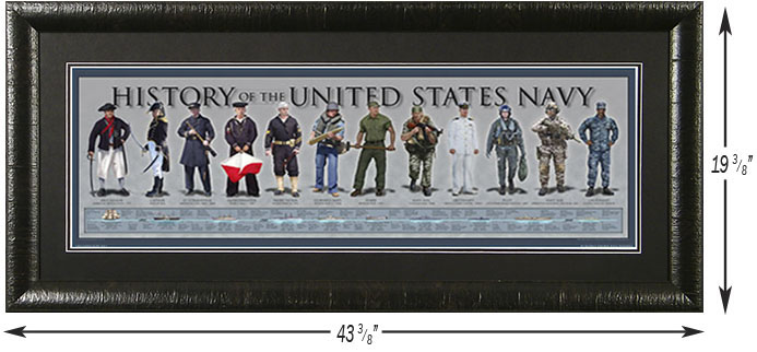 Framed History of the United States Navy Print
