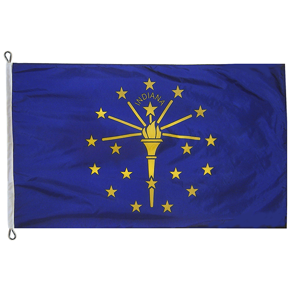 8' X 12' Indiana State Flag IN Flag
