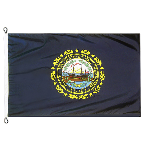 12' X 18' New Hampshire State Flag NH Flag